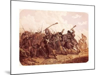 Clash Between Piedmont and Russian Troops, 1855--Mounted Giclee Print