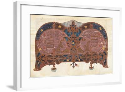 Initial Capital Letter B, Miniature from the Book of Hours by Ferdinand I, 1055, Spain--Framed Giclee Print