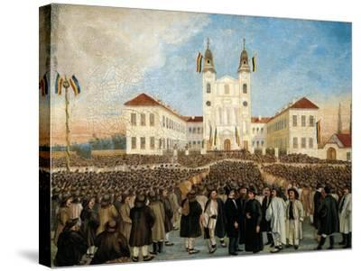 First Assembly in Blaj for Recognition of Principality of Transylvania, Romania--Stretched Canvas Print
