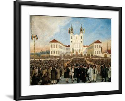 First Assembly in Blaj for Recognition of Principality of Transylvania, Romania--Framed Giclee Print