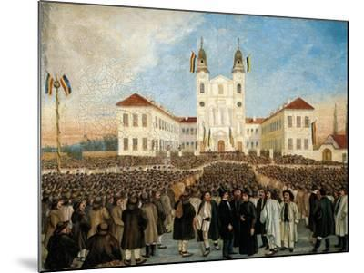 First Assembly in Blaj for Recognition of Principality of Transylvania, Romania--Mounted Giclee Print