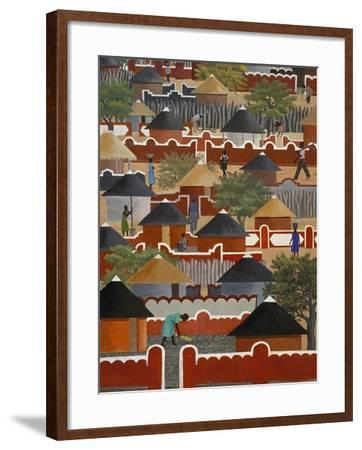 Interior of National Museum of Art, Gaborone, South East District, Botswana--Framed Giclee Print