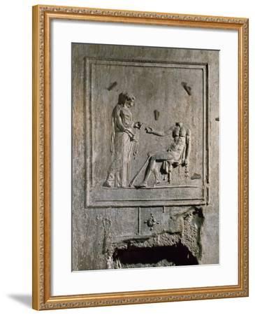 Stucco Relief from Basilica Di Porta Maggiore, Rome, Italy--Framed Giclee Print