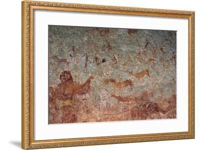 Human and Animal Figures, Cave Paintings, Chamavara Cave, Masvingo, Zimbabwe--Framed Giclee Print