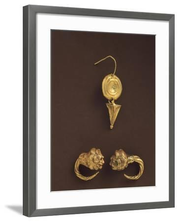 Gold Earrings, 4th-3rd Century BC--Framed Giclee Print