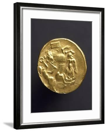 Gold Stater of Coriosoliti, Gauls from Brittany, Verso, Gallic Coins--Framed Giclee Print