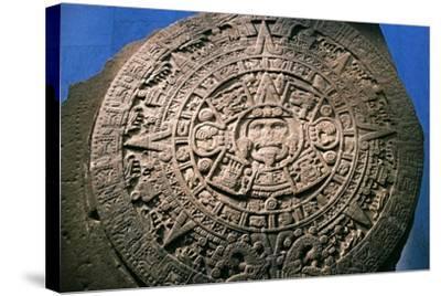 Sun Stone or Aztec Calendar Stone, Found in Tenochtitlan in 1789, Mexico--Stretched Canvas Print
