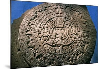 Sun Stone or Aztec Calendar Stone, Found in Tenochtitlan in 1789, Mexico--Mounted Giclee Print