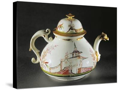 Chinoiserie Decorated Teapot with Griffon-Shaped Spout, 1725--Stretched Canvas Print