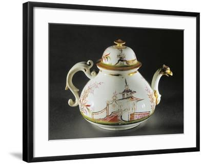Chinoiserie Decorated Teapot with Griffon-Shaped Spout, 1725--Framed Giclee Print