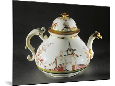 Chinoiserie Decorated Teapot with Griffon-Shaped Spout, 1725--Mounted Giclee Print
