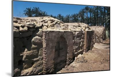 Coptic Cemetery, Medum, Egypt--Mounted Giclee Print
