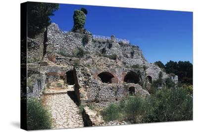 Ruins of Villa Jovis, Capri, Campania, Italy--Stretched Canvas Print