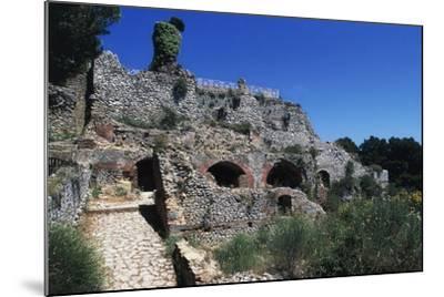 Ruins of Villa Jovis, Capri, Campania, Italy--Mounted Giclee Print