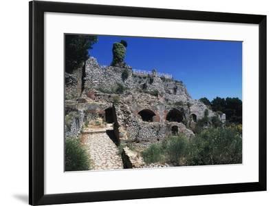 Ruins of Villa Jovis, Capri, Campania, Italy--Framed Giclee Print