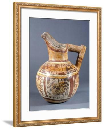 Polychrome Terracotta Jar Codex Type from Zaachila, Mexico--Framed Giclee Print