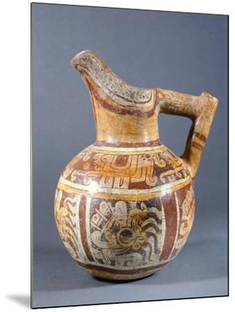 Polychrome Terracotta Jar Codex Type from Zaachila, Mexico--Mounted Giclee Print
