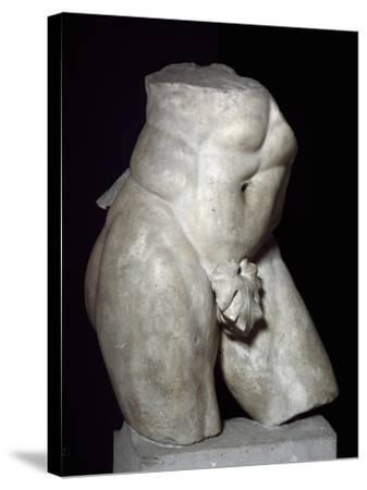 Hercules Torso in Marble--Stretched Canvas Print