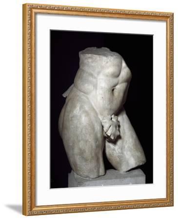 Hercules Torso in Marble--Framed Giclee Print