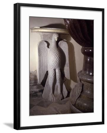 Sculpture, Detail of Baptismal Font Chapel, Amalfi Cathedral, Campania, Italy, 9th Century--Framed Giclee Print