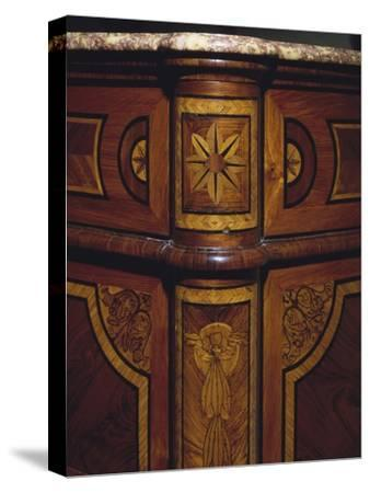Three Drawer Commode with Rosewood and Kingwood Veneer Finish, 1770-1780, Italy, Detail--Stretched Canvas Print