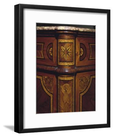 Three Drawer Commode with Rosewood and Kingwood Veneer Finish, 1770-1780, Italy, Detail--Framed Giclee Print