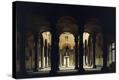 Atrium of the Doge's Palace, Genoa, Liguria, Italy--Stretched Canvas Print