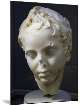 Marble Head of Eros, Copy of Original by Lysippos--Mounted Giclee Print