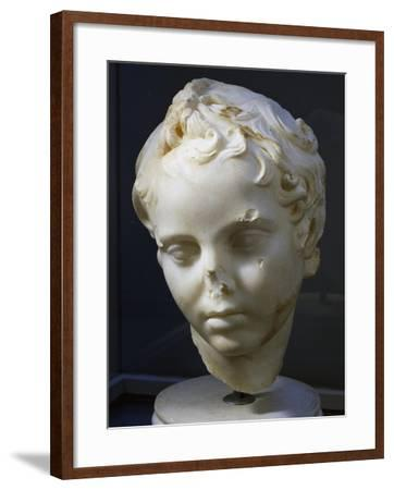 Marble Head of Eros, Copy of Original by Lysippos--Framed Giclee Print