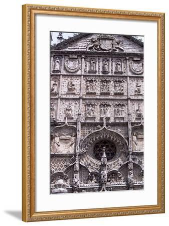Spain, Castile and Leon, Valladolid, Convent of San Pablo, Facade Detail--Framed Giclee Print
