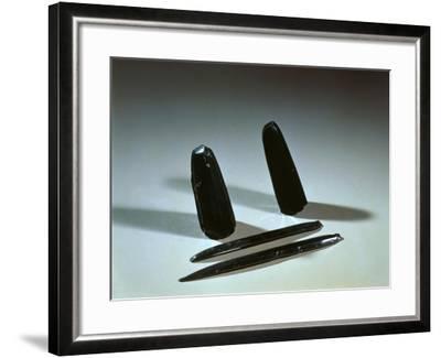 Prehistory - Italy, Sicily Region, Eolie Islands - Arrow Points and Obsidian Blades--Framed Giclee Print