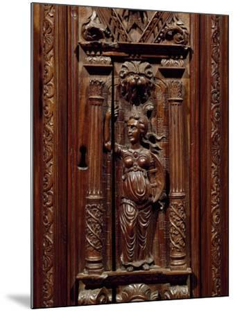Carvings of Figures on Renaissance Style Walnut Cabinet, France, First Half 16th Century, Detail--Mounted Giclee Print