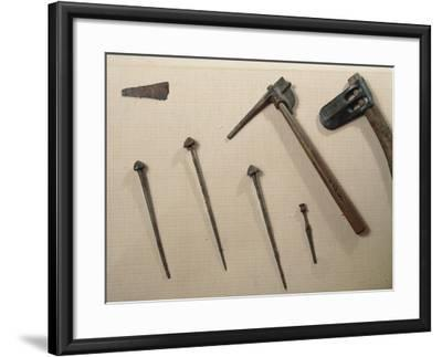Tools, Axes and Iron Nails from Mari, Syria--Framed Giclee Print