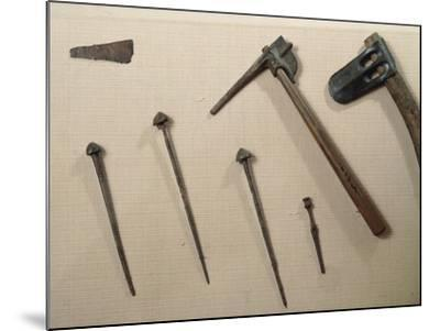 Tools, Axes and Iron Nails from Mari, Syria--Mounted Giclee Print