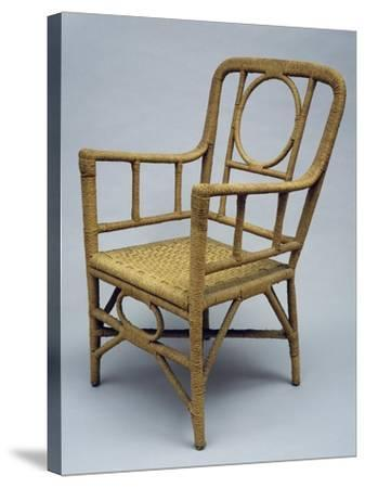 Armchair Upholstered with Braided Rope, 1920-1930--Stretched Canvas Print