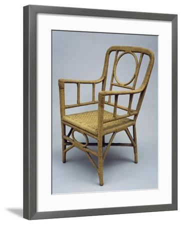 Armchair Upholstered with Braided Rope, 1920-1930--Framed Giclee Print