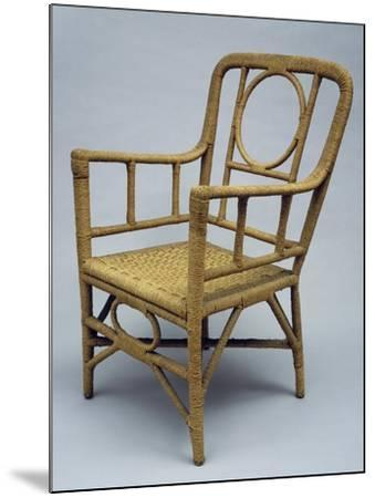 Armchair Upholstered with Braided Rope, 1920-1930--Mounted Giclee Print