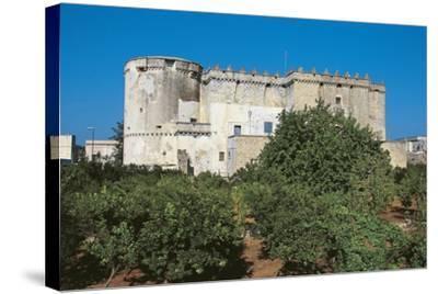 Castle of Morciano Di Leuca, Lecce, Apulia, Italy--Stretched Canvas Print