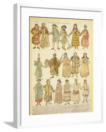 Men's and Women's Costumes--Framed Giclee Print
