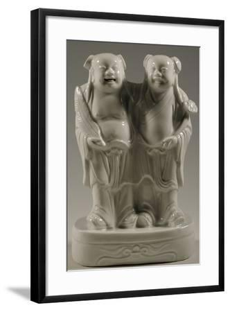 The Divine Twins, Stoneware Blanc De Chine Porcelain Statue, China--Framed Giclee Print