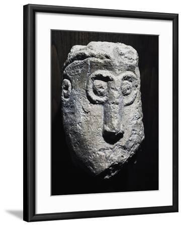 Stone Head with Gorgon Shape, Picenum Culture--Framed Giclee Print