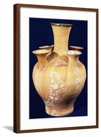 Five Spouts Vase, Islamic Ceramics, Iran, Persian Civilization, Safavid Dynasty, 16th Century--Framed Giclee Print