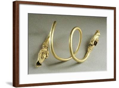 Gold Bracelet in Shape of Snake, from Cucuteni-Baiceni Treasure, Romania--Framed Giclee Print