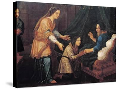 Isaac Blessing Jacob--Stretched Canvas Print