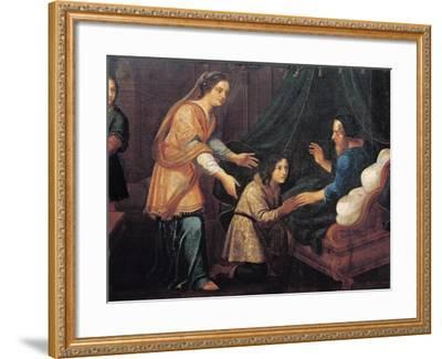 Isaac Blessing Jacob--Framed Giclee Print
