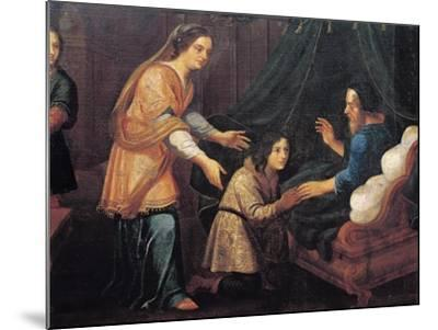 Isaac Blessing Jacob--Mounted Giclee Print