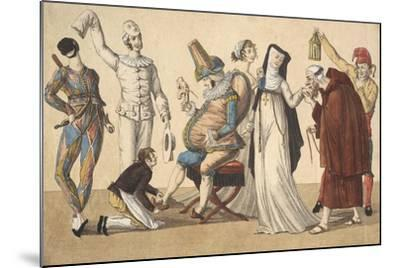 Preparing for Masked Ball, France--Mounted Giclee Print