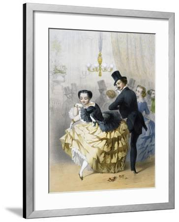 Dance in Paris, Couple of Dancers, France--Framed Giclee Print
