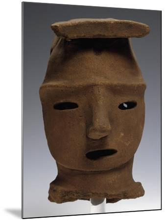 Head of Haniwa, Ritual Pottery from Saitama, Japan,--Mounted Giclee Print