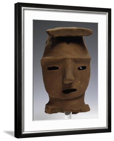 Head of Haniwa, Ritual Pottery from Saitama, Japan,--Framed Giclee Print